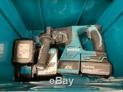 Makita DHR242 18v SDS Hammer Drill + 2x 4.0Ah Batterys/Charger RO 117342