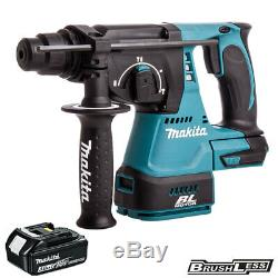 Makita DHR242Z 18V Brushless SDS + Rotary Hammer Drill + 1 x 3Ah BL1830 Battery