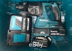 Makita DHR242Z 18v Brushless SDS+ Rotary Hammer Drill With 2 x 4.0Ah Batteries