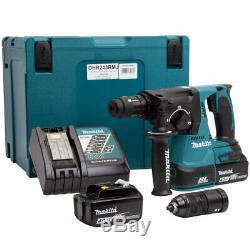 Makita DHR243RMJ 18V Brushless SDS+ Rotary Hammer Drill 2 x 4.0Ah Batteries kit