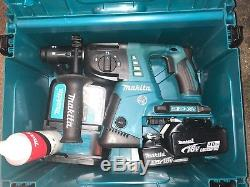 Makita DHR264 Twin 18v Li-Ion SDS Plus Rotary Hammer Drill two 4,0ah Batteries