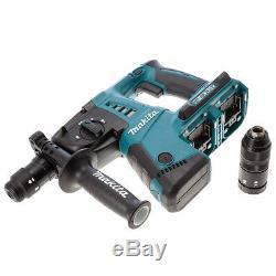 Makita DHR264ZJ 18V Twin SDS+ Hammer Drill in Makpac + 4 Piece SDS Chisel Set