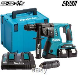 Makita DHR264ZJ 36V SDS+ Rotary Hammer Drill With 2 x 4.0Ah Battery Charger Case