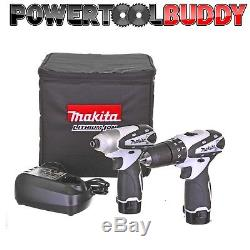 Makita DK1493WX 10.8volt Li-ion 2 Pc Cordless Drill Kit, Impact/Combi