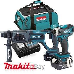 Makita DK18044 18V 3.0Ah Cordless Impact Driver Hammer Combo Set / 220V Charger