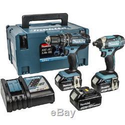 Makita DLX2131JX1 18v 3 X 3.0ah Li-Ion Hammer Drill / Impact Driver Kit