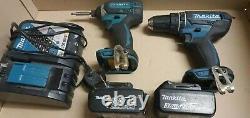 Makita DLX2131RFE 18v Twin Pack DHP482 Combi Drill Impact Driver DTD152 2x3.0AH