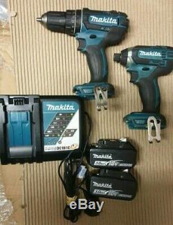 Makita DLX2131TJ 18v Twin Pack DHP482 Combi Drill + Impact Driver DTD152 2x 3.0