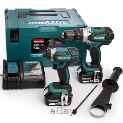 Makita DLX2145TJ 18V Li-Ion Hammer Drill/Impact Driver Kit & 2 x 5.0Ah Batteries