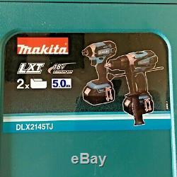 Makita DLX2145TJ 18v 2 X 5.0ah Li-Ion Hammer Drill/Impact Driver KIT