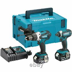 Makita DLX2145TJ 18v Cordless LXT Combi Drill and Impact Driver Kit 2 x 5ah Li-i
