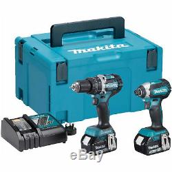 Makita DLX2180TJ 18V Brushless Twin Pack Kit 2 x 5.0Ah Batteries Charger & case
