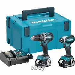 Makita DLX2180TJ 18v Cordless LXT Brushless Combi Drill and Impact Driver Kit 2
