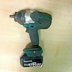 Makita DTW1002Z 18V LXT Cordless Brushless Impact Wrench 1/2 3.0Ah Battery