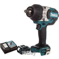 Makita DTW1002Z Impact Wrench 1/2In 18V Brushless with 4.0Ah Battery & Charger