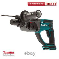 Makita Dhr202z 18v Lxt Sds+ Plus Rotary Hammer 20mm Body Only