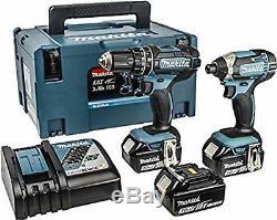 Makita Dlx2131jx1 18 Volt Cordless Lithium Combi Hammer Drill + Impact Driver