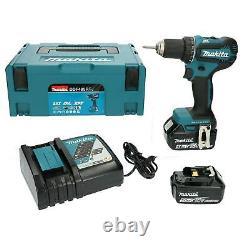 Makita Drill Driver BL LXT DDF485RTJ 18v 2 Batteries 5 Ah + Charger, Full Case