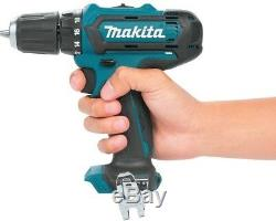 Makita Drill Impact Driver Combo Kit 3/8 in. 12V Lithium-Ion Cordless Brushed
