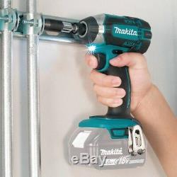Makita Drill Impact Driver Saw Blower Flashlight Combo Kit Cordless (5-Tool)