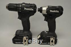Makita Drill XFD11/ Impact Driver XDT15 Kit Brushless with 2.0 Ah Batteries & Char