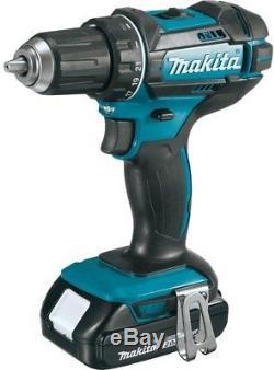 Makita Driver Drill Impact Driver Combo Kit 18-Volt Lithium-Ion Cordless 2-Tool