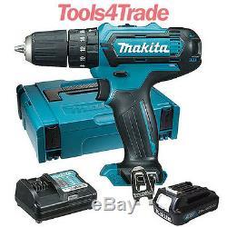 Makita HP331DZ 10.8V CXT Combi Drill + 1 x 2.0Ah BL1020B Battery Charger & Case