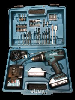 Makita HP457D 18V Cordless Combi Hammer Drill Set (2 x 18v Batteries)