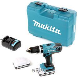Makita HP457DWE10 18V G Series Combi Drill + 2 x 1.5Ah Batteries, Charger & Acc