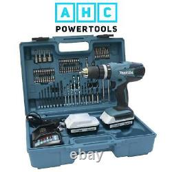 Makita HP457DWE10 18V Li-ion G Series Cordless Combi Drill In Case + Accessories