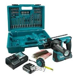 Makita HR140DWAE1 12V SDS+ Drill, 2 x 2.0Ah Batteries, Charger & Accessories Set