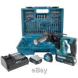 Makita HR166DSAE1 10.8v Sds Drill Rotary 2 x 2.0ah Batteries + Accessory set