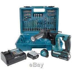 Makita HR166DSAE1 10.8v Sds Drill Rotary 2 x 2.0ah Batteries + Accessory set