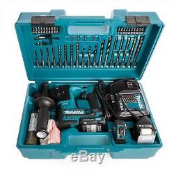Makita HR166DSAE1 12v SDS Rotary Hammer Drill Brushless 2 Battery +65p Bit Set