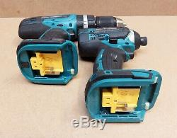 Makita Hammer Drill DHP453 Impact Driver DTD152 18V 3 Batteries Combo Set