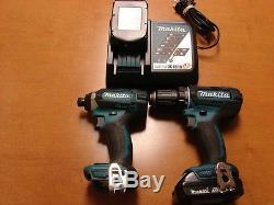 Makita Impact Driver 1/4 & Compact Drill Driver 1/2 18V Li-Ion 2-Tool Combo