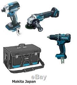 Makita Japan impact driver, drill driver, disk grinder, cordless set 18v TD170DZ
