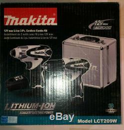 Makita LCT209W, 12V Max Drill / Impact Driver 2-Tool Cordless Combo Kit