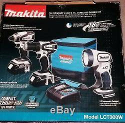 Makita LCT300W 18V Li-Ion 1/2 Cordless Drill/Driver Flash light batteries