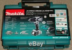 Makita LXFD01CW 18V Compact Cordless 1/2 Driver-Drill Li-Ion With 2 Batteries