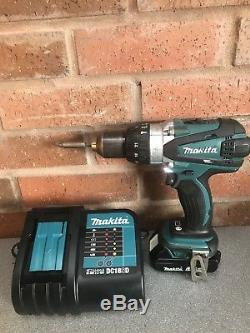 Makita Lxt Dhp458 18v LI Ion Combi Hammer Drill 1x 1.5ah Battery & Charger