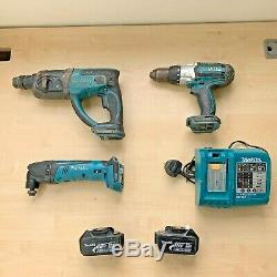 Makita SET DHR202 SDS Hammer Drill DTM50 Multi Tool DHP451 BL1830 Battery Charge