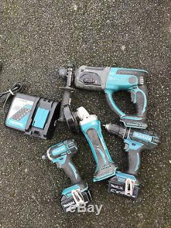 Makita Sds Drill Hammer Drill Driver Impact Driver Grinder 2x5.0ah Batterys