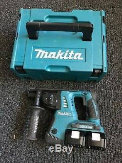 Makita Sds Hammer Drill DHR263-2018 Year -36V and 5ah Batteries X2
