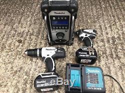 Makita Tool Set Kit Combi Drill, Impact Driver & Dab Radio 18v 3x Batteries