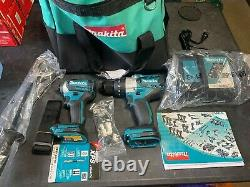 Makita Tools 2-Piece 18V XPH07 1/2'' Hammer Drill, XDT14 1/4'' Hex Driver Kit