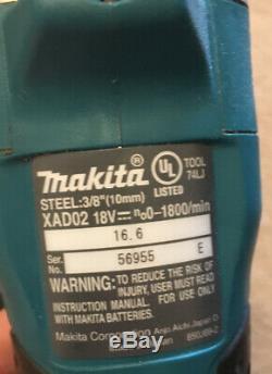 Makita XAD02 18V LithiumIon Cordless 3/8 Angle Drill with Makita Drill Bit Set