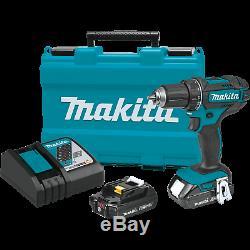 Makita XFD10R 18V LXT LithiumIon Compact Cordless 1/2 DriverDrill Kit, 2.0Ah