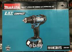 Makita XFD10R 18V LXT LithiumIon Compact Cordless 1/2 DriverDrill Kit with