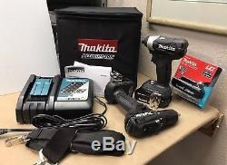 Makita XFD11 18V Brushless 1/2 Drill Driver & XDT15 1/4 Impact Driver Set